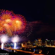 From David Parrish photography - Fireworks over the Janes River in Richmond, VA Fourth Of July, Fireworks, Opera House, Fair Grounds, David, River, Spaces, Building, Photography