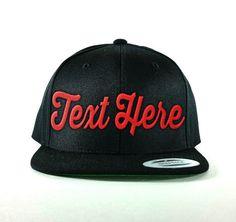 Custom Snapback Hats for Men /& Women Black and Blue Kayak Fishbone Embroidery