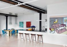 Will Ferrell's Industrial New York City Loft Features Colorful Accents Photos   Architectural Digest