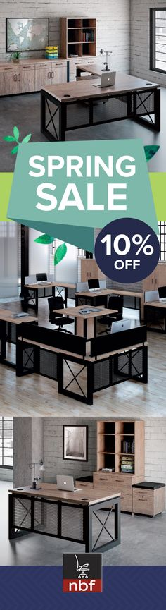 Ready to upgrade your office, waiting room, breakroom or conference room? Shop now and take 10% off your new office furniture from NBF! Save on office furniture of every style, from the rustic industrial Urban collection to the sleek and modern Metropolitan. Visit our website and use promo code NBF10317 at checkout to take 10% off your purchase of select desks, chairs, tables, filing cabinets and storage. Hurry! This offer will only last through the month of March!