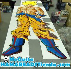 Goku Super Saiyant 2 - Dragon Ball Hama beads by MeGustaHAMABEADS.com