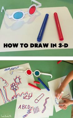 Make 3-D glasses and draw in 3-d