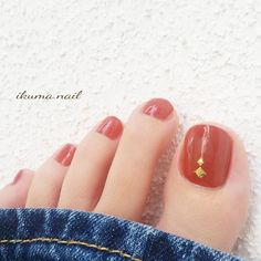Attention to the semi-permanent varnish - My Nails Pretty Toe Nails, Cute Toe Nails, Pretty Toes, Love Nails, My Nails, Feet Nail Design, Toe Nail Designs, Bright Red Nails, Happy Nails