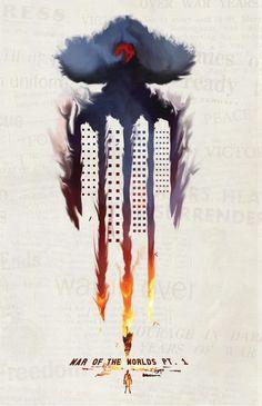 War of the Worlds book covers by Haden Hamblin, via Behance