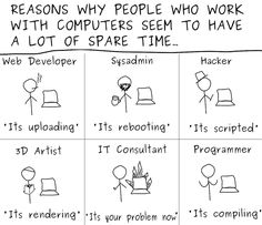 Reasons Why People Who Work With Computers Seem To Have A Lot of Spare Time...