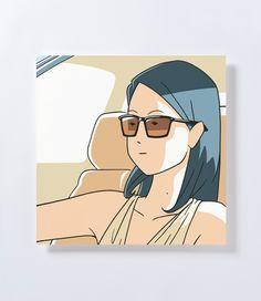 白根ゆたんぽ「Sunglasses, car」 - GALLERY SPEAK FOR|ギャラリー スピーク フォー