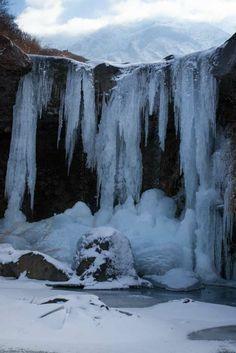 """"""" Icicles """"  20.Jan.2014  今年の仙酔峡の氷柱はこんな感じ。昨年より少ない。残念! 未投稿分、旅の写真続きまふ。てへ"""