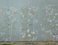 Peonies and Orange Blossoms: Chic Chinoiserie Wallpapers