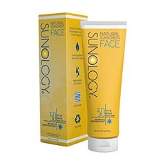 Sunology Mineral Sunscreen for Face SPF 50 Broad Spectrum with Moringa Oil Zinc Oxide and Titanium Dioxide 2 Ounce Tube ** Read more reviews of the product by visiting the link on the image.