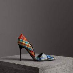42ce0c8db5f Burberry Tartan Cotton Pumps  edgywomensfashion Tartan Shoes