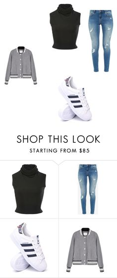 """""""Casual Day in NYC"""" by grace-dxvii on Polyvore featuring Brandon Maxwell, Ted Baker and adidas"""