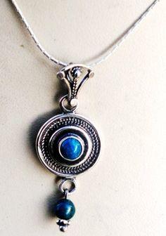 Sterling Silver Necklace Filigree set Eilat Stone Bluenoemi,Price 49 USD http://www.amazon.com/dp/B00CYHV5II/ref=cm_sw_r_pi_dp_o7KFsb1D16W8V6AJ