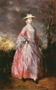 "Thomas Gainsborough, Mary, Countess Howe, ca. 1764, oil on canvas, 95"" x 61"" - one of my favorite 18th century paintings"