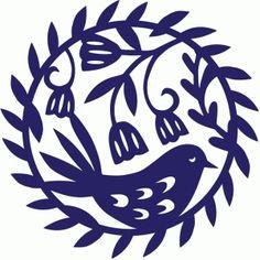 Silhouette Design Store - View Design bird and flowers wreath Silhouette Design, Bird Silhouette, Silhouette Portrait, Silhouette Cameo Projects, Silhouette Pictures, Folk Art Flowers, Flower Art, Cricut Explore Air, Kirigami