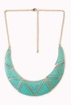 Standout Lacquered Geo Bib Necklace | FOREVER21 Mint condition #Accessories #Necklace #MustHave
