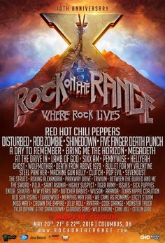 Rock on the Range 10th Anniversary: Red Hot Chili Peppers, Disturbed, Rob Zombie