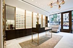 Really like the modern glamorous feel.  Robert Marc store S Russell Groves Architect New York