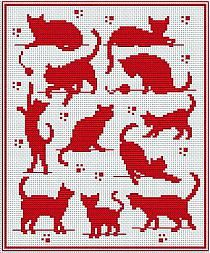 Cat Pattern for Filet Crochet - Not super great quality but enough to get an idea. Cat Pattern for Filet Crochet - Not super great quality but enough to get an idea. Cross Stitch Charts, Cross Stitch Designs, Cross Stitch Patterns, Cross Stitching, Cross Stitch Embroidery, Embroidery Patterns, Knitting Charts, Knitting Stitches, Crochet Chart
