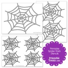 Printable Spider Web Stencil from PrintableTreats.com