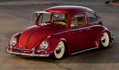 Slammed Vw beetle.......How many rear tires would you go through!! Really dumb look
