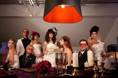 Set design and styling for a Champagne Masquerade shoot for Bridal Fantasy Magazine Spring & Summer 2011