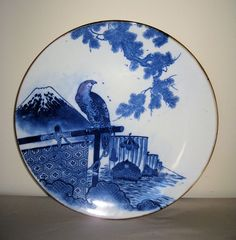 Japanese Blue & White Transfer-Ware Charger
