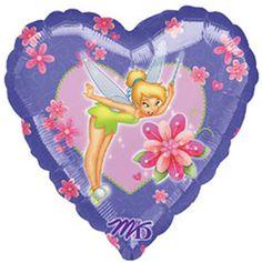 "18"" Magical Tinkerbell Purple Heart Foil Balloon"