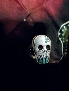 This awesome handmade Turquoise Teeth Skull Zombie Head Ring is the perfect stocking stuffer gift for teenage boys and men who are into all things creepy.