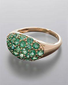 Goldring mit 25 #Smaragd-Edelsteinen  Diesen herrlichen #Ring aus #Gold und…