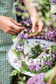 Lilac wreath.