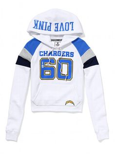 San Diego Chargers Shrunken Pullover Hoodie - Victoria's Secret PINK®... why can't it be my birthday? or Christmas already?