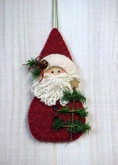 bb posted O Christmas Tree III: Santa w/Tree to their -christmas xmas ideas- postboard via the Juxtapost bookmarklet. Felt Christmas Decorations, Felt Christmas Ornaments, Christmas Holidays, Christmas Tree, Santa Ornaments, Christmas Nativity, Christmas Projects, Felt Crafts, Holiday Crafts