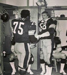 Mean Joe Greene & Jack Lambert Pitsburgh Steelers, Pittsburgh Steelers Football, Pittsburgh Sports, Best Football Team, Sport Football, National Football League, Football Fans, Football Players, Steelers Stuff