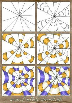 op art kegler – www.FruBilledkuns… op art kegler – www. Optical Illusions For Kids, Optical Illusions Drawings, Illusion Drawings, Art Optical, Illusion Art, Art Drawings, Illusions Mind, Drawing Art, Op Art Lessons