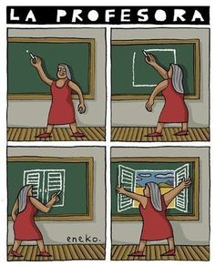 Yes, a real teacher frees them from the classroom --- HOMESCHOOL ! Spanish Teacher, Spanish Classroom, Teaching Spanish, Classroom Ideas, Carl Friedrich, Middle School English, Spanish Humor, Spanish Phrases, Spanish Lessons
