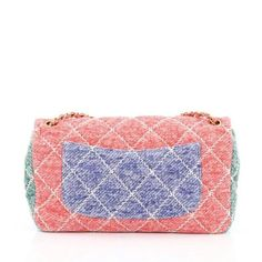 e51a46385ad5 Chanel Ultimate Stitch Flap Bag Multicolor Quilted Jersey Medium In Good  Condition For Sale In New York, NY