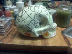 Sugar skull i did for my auntie