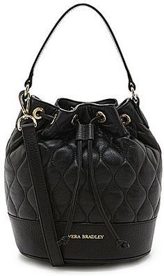 $198, Black Quilted Leather Crossbody Bag: Vera Bradley Emerson Quilted Leather Convertible Cross Body Bag. Sold by Dillard's. Click for more info: https://lookastic.com/women/shop_items/266773/redirect