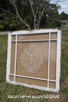 Window Wall Decor old window frame decor with last name initial … | for the home