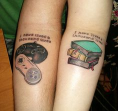 The Way To Live A Thousand Lives -- if you ever want to get matching tattoos with Luke. Never thought about it this way!