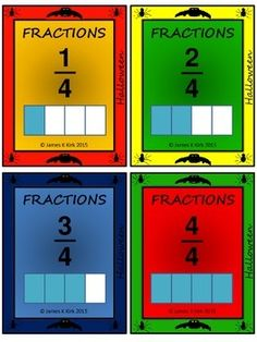 Fractions Flash Cards for all purposes!! (MEGA PACK) - Halloween Style (2-6)  300 fraction challenge cards (A combo of various packs Halloween style)  - 4 cards per A4 sheet - Cards range from mixed style cards, to simple fractions and divided rectangles for comparing. 75 page resource.