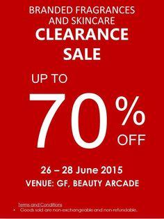26-28 Jun 2015: Sogo Branded Fragrances & Skincare Clearance Sale Event