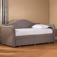 Add a touch of modern simplicity to your home decor with this Hillsdale Furniture Potter daybed. Bedroom Loft, Bedroom Inspo, Monte Carlo, Full Daybed With Trundle, Mattress Frame, Daybed Mattress, Hotels, Hillsdale Furniture, White Bedroom