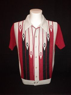 Diamond Knitted Shirt (Red) by Dig this...clothing