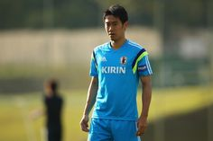Shinji Kagawa looks on during a Japan training session at the Japan national team base camp at the Spa Sport Resort on June 9, 2014 in Itu, Sao Paulo