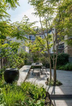 - Relaxing Terrace Garden Design I Back Gardens, Small Gardens, Outdoor Gardens, City Gardens, Modern Gardens, Landscape And Urbanism, Garden Landscape Design, Fence Landscaping, Modern Landscaping
