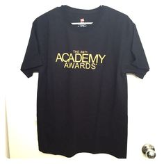 Official Academy Awards / Oscars black T-Shirt NEVER WORN!! Official Academy Awards / Oscars black T-Shirt. #CelebrateTheMovies on back. Tops Tees - Short Sleeve