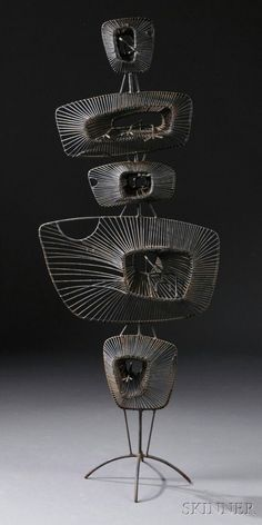 484: , John Risley (1912-2002) Lily Pads Sculpture, Ste : Lot 484