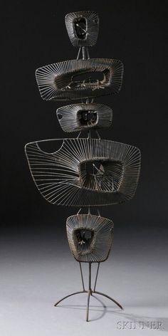 John Risley (1912-2002) Lily Pads Sculpture