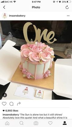 Cake Designs For Kids - Easy Birthday Cake Decorating Ideas - Pretty Cakes, Cute Cakes, Beautiful Cakes, First Birthday Cakes, Birthday Cake Girls, Birthday Ideas, 26th Birthday, One Year Birthday Cake, 1st Year Cake